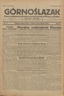 Górnoślązak : Pismo codzienne, poświęcone sprawom ludu polskiego na Śląsku.R.32, nr 17 (21 stycznia 1933)