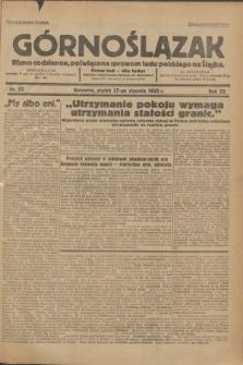Górnoślązak : Pismo codzienne, poświęcone sprawom ludu polskiego na Śląsku.R.32, nr 22 (27 stycznia 1933)