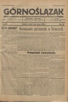 Górnoślązak : Pismo codzienne, poświęcone sprawom ludu polskiego na Śląsku.R.32, nr 27 (3 lutego 1933)