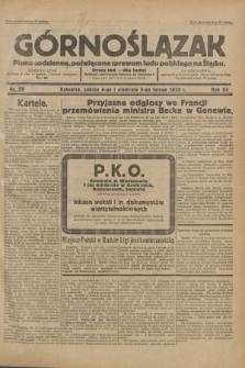 Górnoślązak : Pismo codzienne, poświęcone sprawom ludu polskiego na Śląsku.R.32, nr 28 (4 lutego 1933)