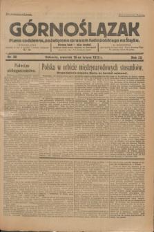 Górnoślązak : Pismo codzienne, poświęcone sprawom ludu polskiego na Śląsku.R.32, nr 38 (16 lutego 1933)