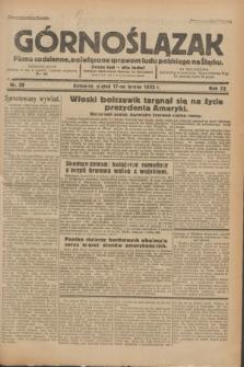 Górnoślązak : Pismo codzienne, poświęcone sprawom ludu polskiego na Śląsku.R.32, nr 39 (17 lutego 1933)