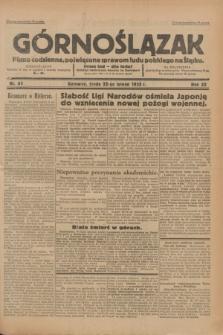 Górnoślązak : pismo codzienne, poświęcone sprawom ludu polskiego na Śląsku.R.32, nr 43 (22 lutego 1933)