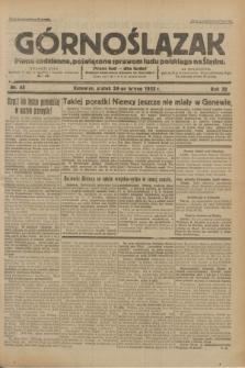 Górnoślązak : Pismo codzienne, poświęcone sprawom ludu polskiego na Śląsku.R.32, nr 45 (24 lutego 1933)
