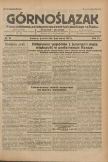 Górnoślązak : pismo codzienne, poświęcone sprawom ludu polskiego na Śląsku.R.32, nr 53 (6 marca 1933)