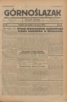 Górnoślązak : pismo codzienne, poświęcone sprawom ludu polskiego na Śląsku.R.32, nr 59 (13 marca 1933)