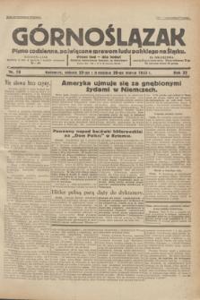 Górnoślązak : pismo codzienne, poświęcone sprawom ludu polskiego na Śląsku.R.32, nr 70 (25/26 marca 1933)