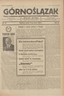Górnoślązak : pismo codzienne, poświęcone sprawom ludu polskiego na Śląsku.R.32, nr 75 (31 marca 1933)