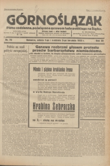 Górnoślązak : pismo codzienne, poświęcone sprawom ludu polskiego na Śląsku.R.32, nr 76 (1/2 kwietnia 1933)