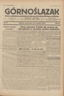 Górnoślązak : pismo codzienne, poświęcone sprawom ludu polskiego na Śląsku.R.32, nr 77 (3 kwietnia 1933)