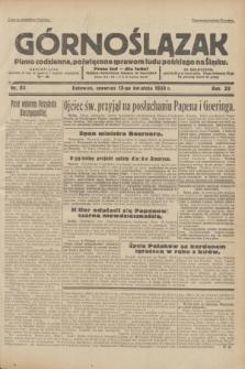 Górnoślązak : pismo codzienne, poświęcone sprawom ludu polskiego na Śląsku.R.32, nr 86 (13 kwietnia 1933)