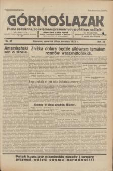 Górnoślązak : pismo codzienne, poświęcone sprawom ludu polskiego na Śląsku.R.32, nr 91 (20 kwietnia 1933)