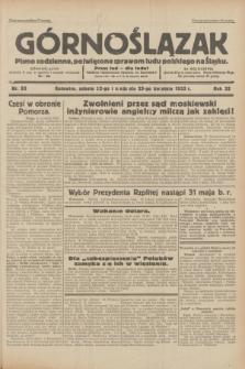 Górnoślązak : pismo codzienne, poświęcone sprawom ludu polskiego na Śląsku.R.32, nr 93 (22/23 kwietnia 1933)