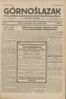 Górnoślązak : pismo codzienne, poświęcone sprawom ludu polskiego na Śląsku.R.32, nr 94 (24 kwietnia 1933)