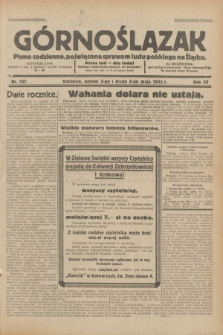 Górnoślązak : pismo codzienne, poświęcone sprawom ludu polskiego na Śląsku.R.32, nr 101 (2/3 maja 1933)