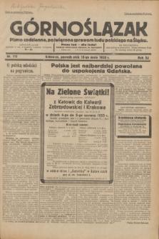 Górnoślązak : pismo codzienne, poświęcone sprawom ludu polskiego na Śląsku.R.32, nr 111 (15 maja 1933)