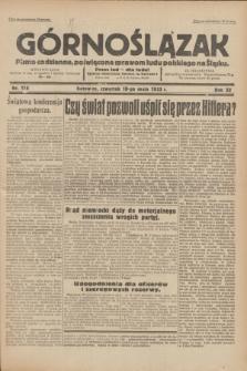 Górnoślązak : pismo codzienne, poświęcone sprawom ludu polskiego na Śląsku.R.32, nr 114 (18 maja 1933)