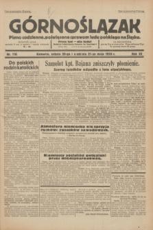 Górnoślązak : pismo codzienne, poświęcone sprawom ludu polskiego na Śląsku.R.32, nr 116 (20/21 maja 1933)