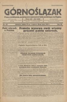 Górnoślązak : pismo codzienne, poświęcone sprawom ludu polskiego na Śląsku.R.32, nr 121 (27/28 maja 1933)
