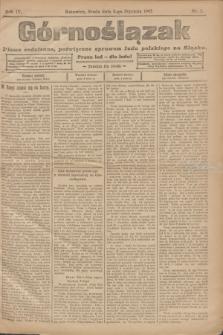 Górnoślązak : pismo codzienne, poświęcone sprawom ludu polskiego na Śląsku.R.4, nr 3 (4 stycznia 1905)