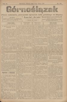Górnoślązak : pismo codzienne, poświęcone sprawom ludu polskiego na Sląsku.R.4, nr 109 (13 maja 1905)