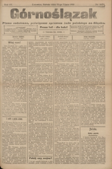 Górnoślązak : pismo codzienne, poświęcone sprawom ludu polskiego na Śląsku.R.4, nr 165 (22 lipca 1905)