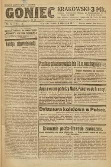 Goniec Krakowski. 1921, nr4