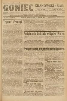 Goniec Krakowski. 1921, nr70