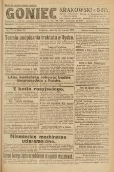 Goniec Krakowski. 1921, nr71