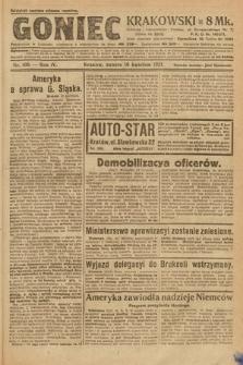 Goniec Krakowski. 1921, nr100