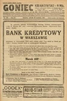 Goniec Krakowski. 1921, nr107