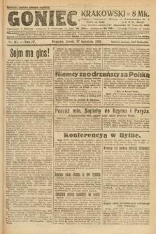 Goniec Krakowski. 1921, nr111