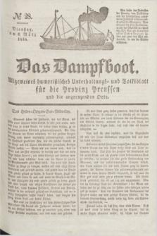 Das Dampfboot : allgemeines humoristisches Unterhaltungs- und Volksblatt für die Provinz Preussen und die angrenzenden Orte. Jg.8, № 28 (6 März 1838) + dod.