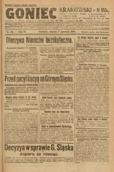 Goniec Krakowski. 1921, nr151