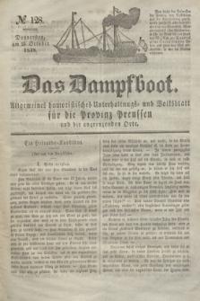 Das Dampfboot : allgemeines humoristisches Unterhaltungs- und Volksblatt für die Provinz Preussen und die angrenzenden Orte. Jg.8, № 128 (25 October 1838) + dod.
