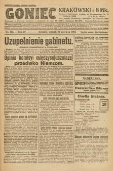 Goniec Krakowski. 1921, nr165