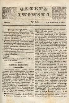 Gazeta Lwowska. 1843, nr 50