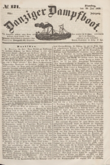 Danziger Dampfboot. Jg.23, № 171 (26 Juli 1853)