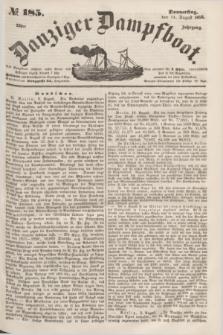 Danziger Dampfboot. Jg.23, № 185 (11 August 1853)