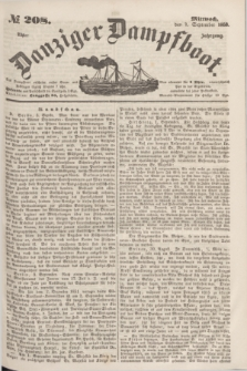 Danziger Dampfboot. Jg.23, № 208 (7 September 1853)