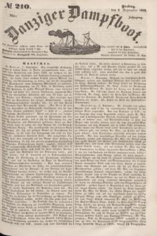Danziger Dampfboot. Jg.23, № 210 (9 September 1853)