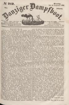 Danziger Dampfboot. Jg.23, № 212 (12 September 1853)
