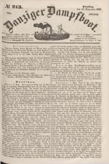 Danziger Dampfboot. Jg.23, № 213 (13 September 1853)