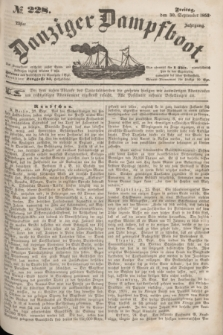 Danziger Dampfboot. Jg.23, № 228 (30 September 1853)
