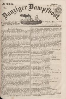 Danziger Dampfboot. Jg.23, № 248 (24 October 1853)