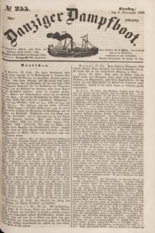 Danziger Dampfboot. Jg.23, № 255 (1 November 1853)