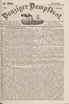 Danziger Dampfboot. Jg.23, № 275 (24 November 1853)