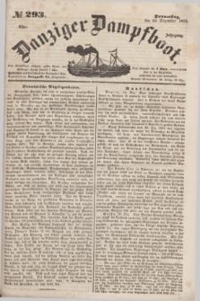 Danziger Dampfboot. Jg.23, № 293 (15 Dezember 1853)