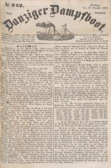 Danziger Dampfboot. Jg.27, № 242 (16 October 1857)