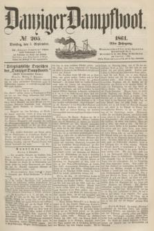 Danziger Dampfboot. Jg.31, № 205 (3 September 1861)